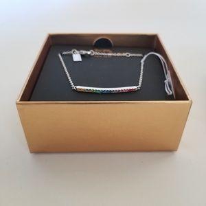 Coach Rainbow Pave Bar Bracelet